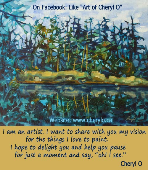 Painting and Quote by Cheryl O