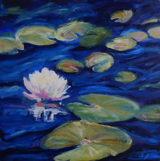 After Monet - oil painting