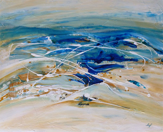 Abstract painting by Cheryl O