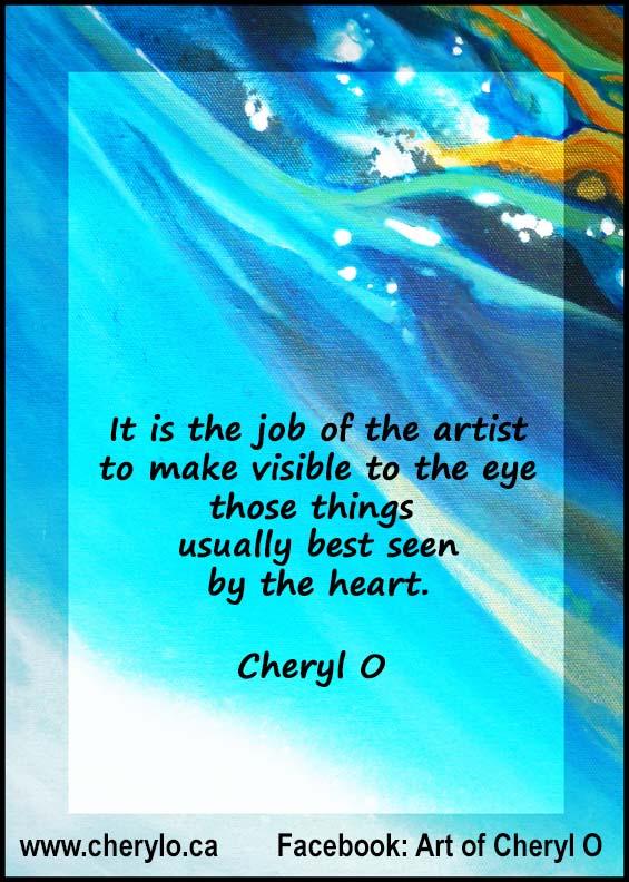 The Artist's Job