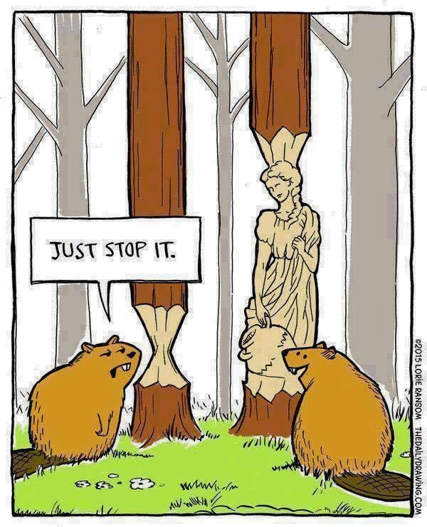 Cartoon-beavers