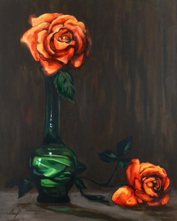 Green Vase by Cheryl O