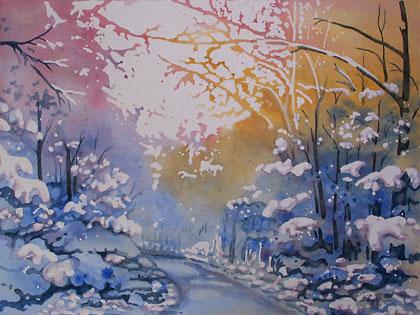 First Snow, by Cheryl O