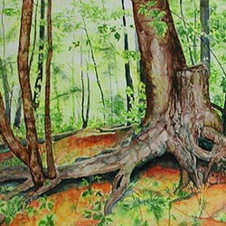 """Painting - """"Rooted"""""""