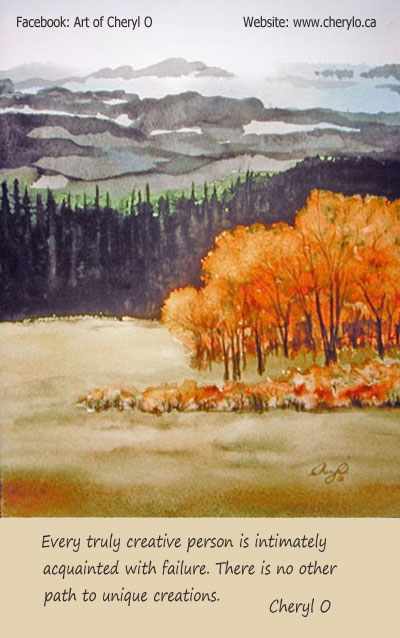 Autumn Hills - watercolour painting
