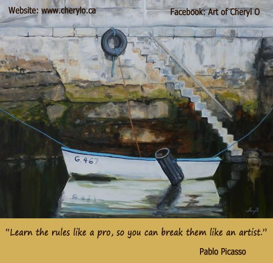 Waiting -Acrylic Painting by Cheryl O